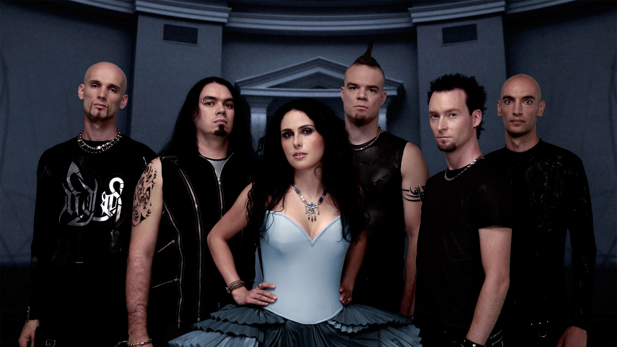 Within Temptation promotional photo 2004 album release The Silent Force