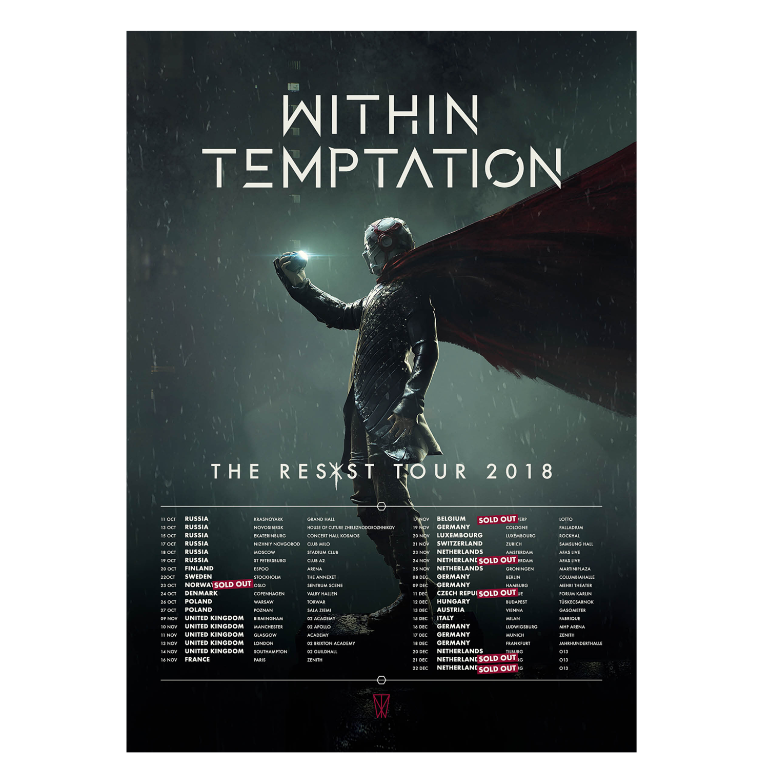 Within Temptation The Resist Tour MMXVIII