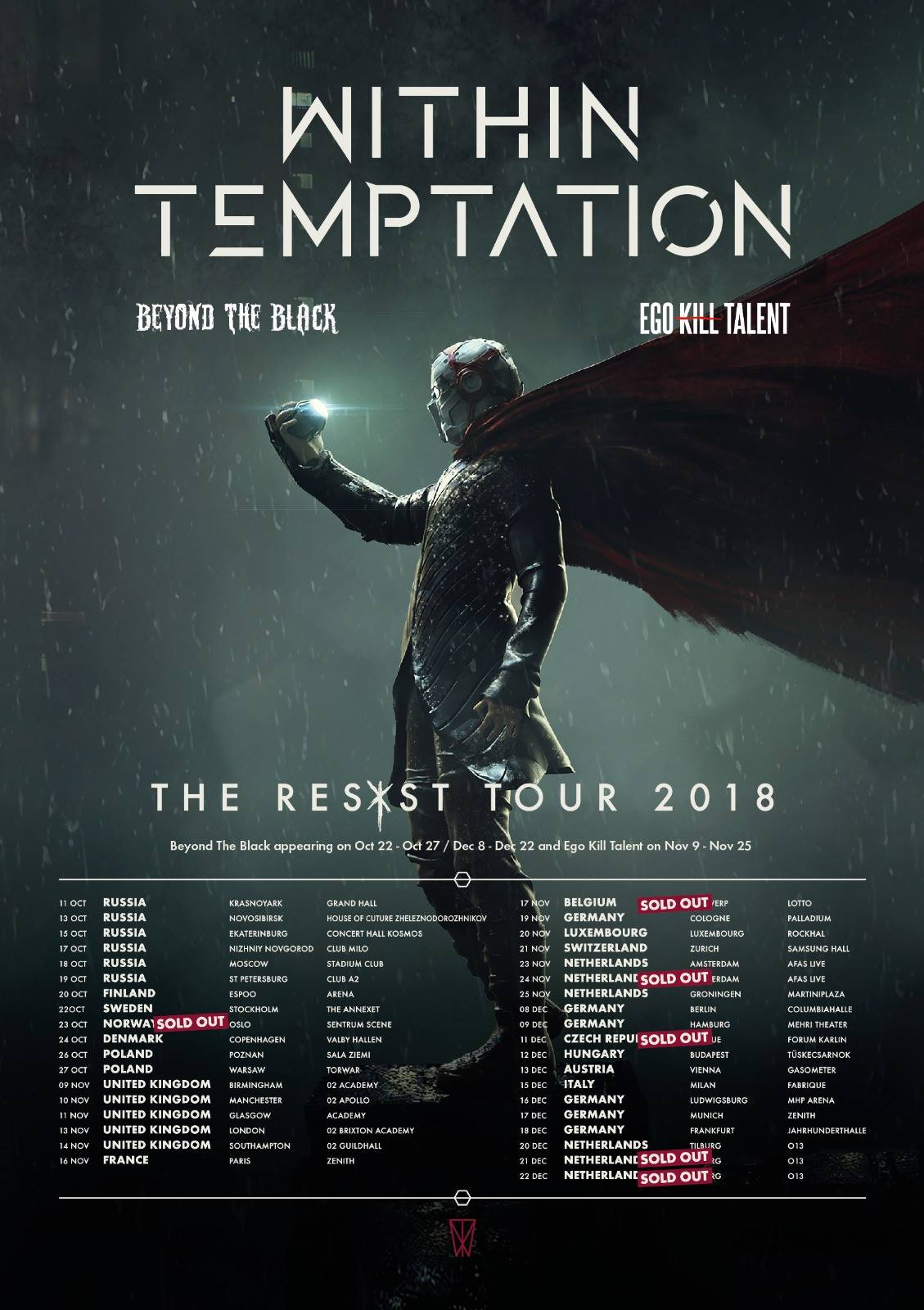 Within Temptation The Resist Tour 2018 Live Album