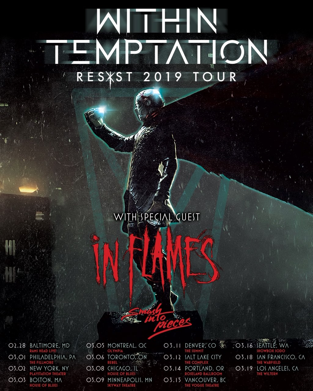 Within Temptation In Flames Tour RESIST Live 2019
