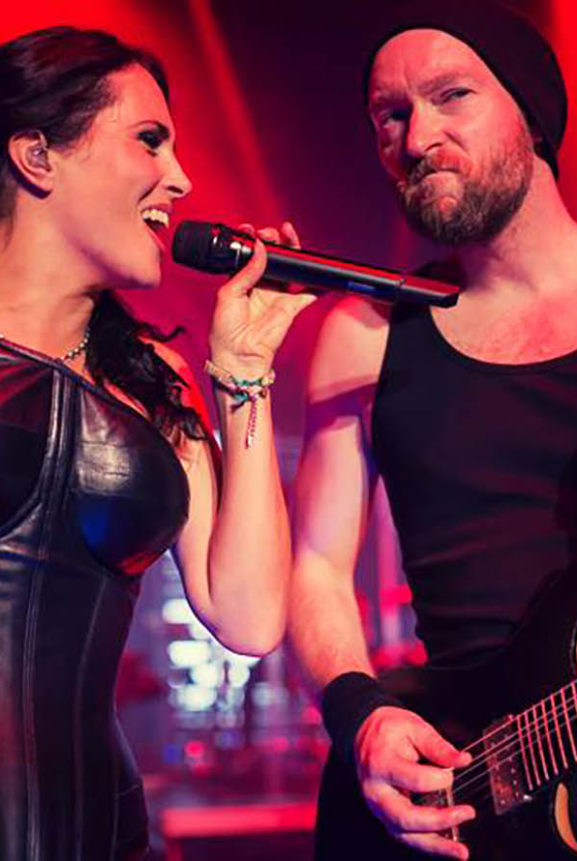 Sharon Den Adel Ruud Jolie Within Temptation Live Michigan 2014
