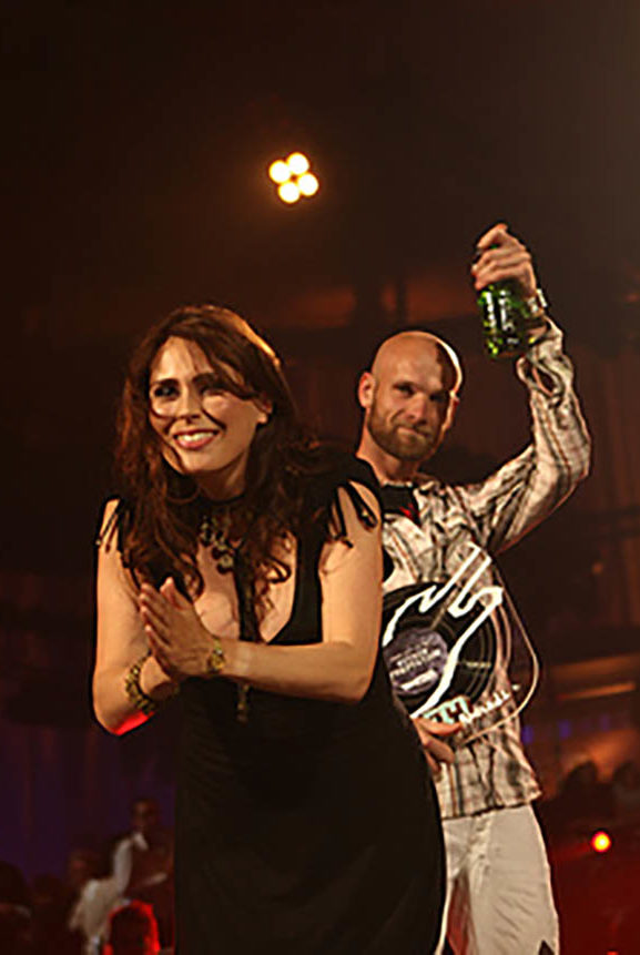 Sharon Den Adel Robert Westerholt 3FM Awards 2009