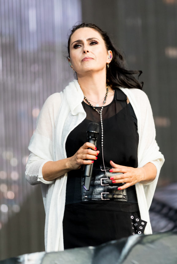 Dutch Rock Music Within Temptation Performing Wacken Open Air 2019