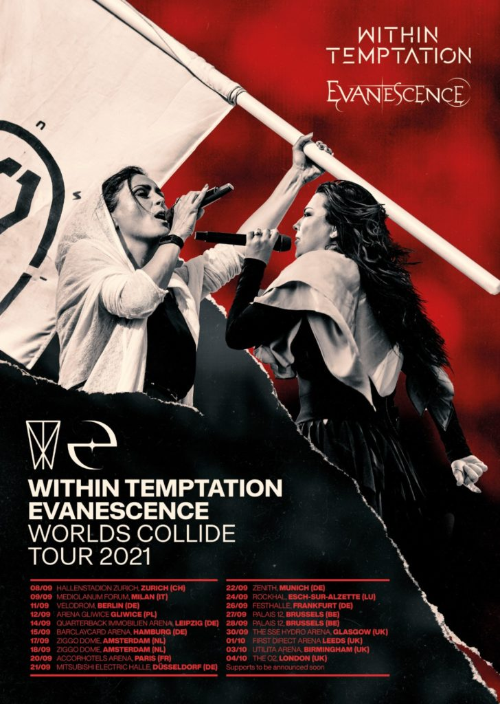 Evanescence Within Temptation Worlds Collide Tour
