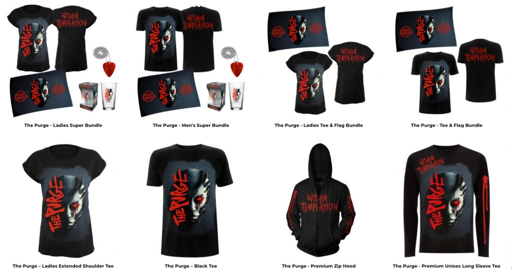 Within Temptation Purge merch